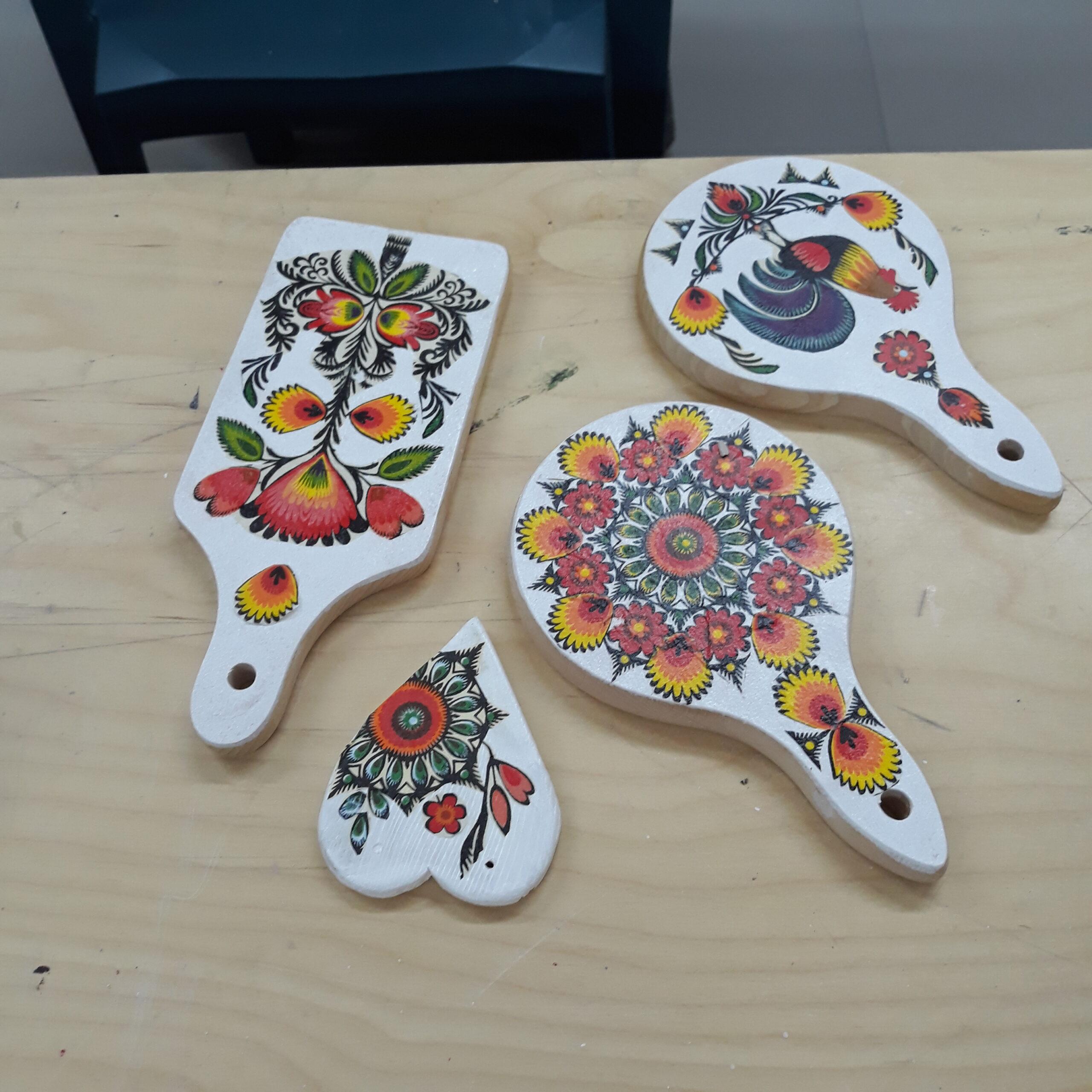 gliniane kolorowe wyroby